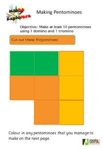 Making pentominoes worksheet