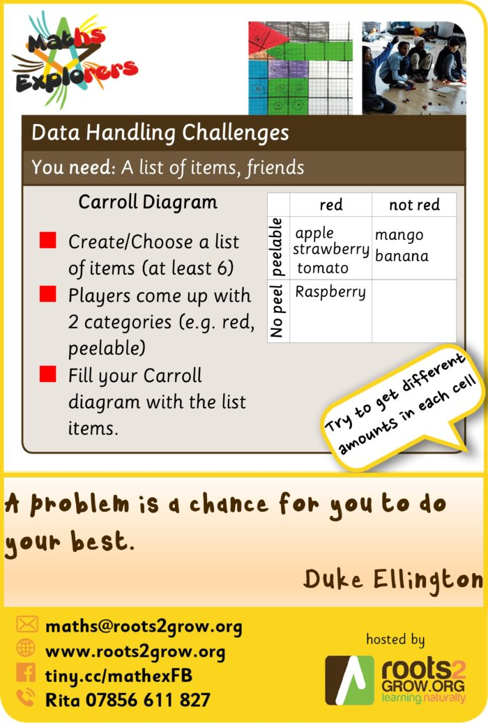 Weekly challenge - Carroll Diagrams